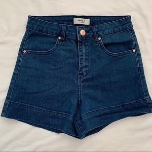 Cute forever 21 blue demin shorts!